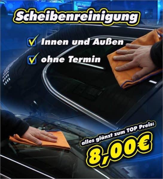 Angebot Scheibenreinigung Waschstrasse Wegberg 01
